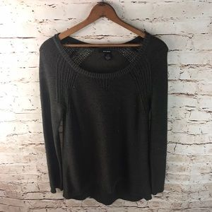 DKNY Jeans Knit Sequence Scoop Neck Sweater